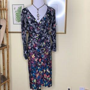 BCBGMAXAZRIA Multicolored Wrap dress Size XXS